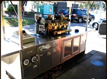 Large Coffee Cart : Full Of Beans Rear