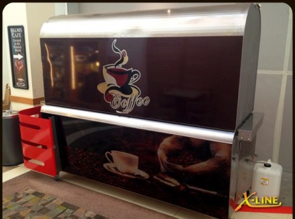 Large Coffee Cart : X-Line Closed