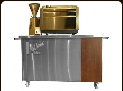 Small Coffee Cart ;Vittoria Coffee Front