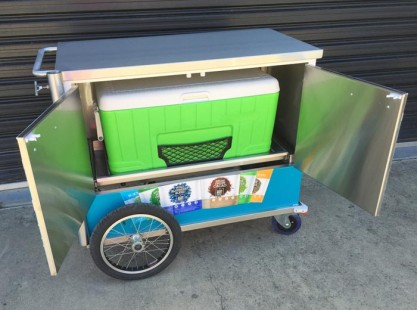 Blackmores Beverage Cart - Rear View