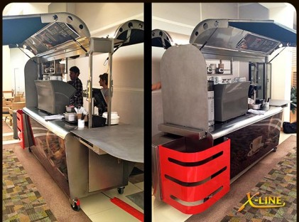 Large Coffee Cart : X-Line (on-site 2)