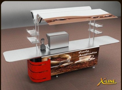 Large Coffee Cart : X-Line (front)