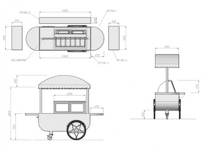 Small Gelato Cart DIM Model
