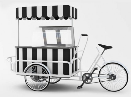 Gelato Cart C - Bicycle - 6 Tray