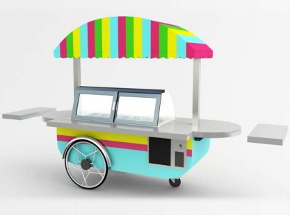 Gelato Cart: Italian Style 10 Tray