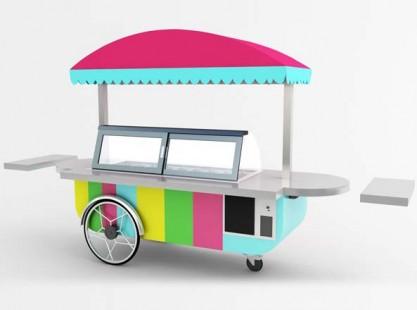 Gelato Cart: Italian Style 12 Tray