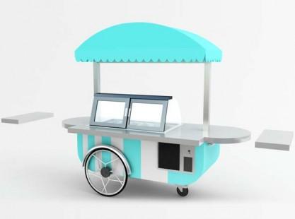 Gelato Cart: Italian Style 8 Tray