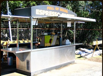 Large Coffee Cart : Full Of Beans