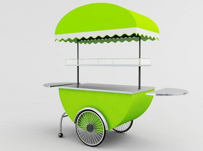 Merchandising Cart Model E Lime
