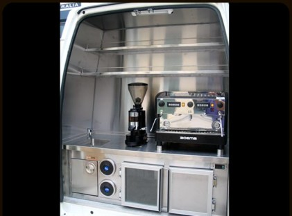 Coffee Van : Rear Ford Transit Hi Top