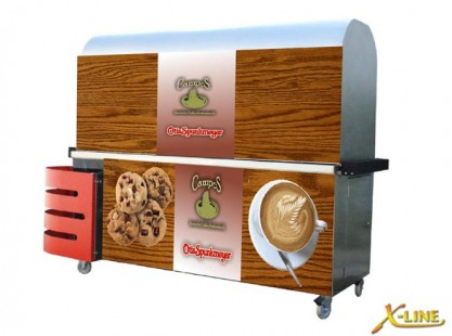 Large Coffee Cart : X-Line Coffee and Cookie