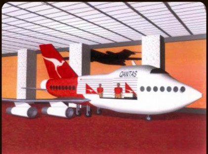 Merchandising Cart : Qantas