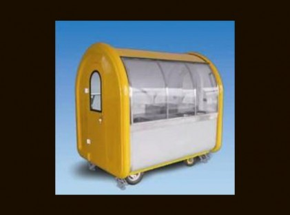 Enclosed See-Through Side Trailer