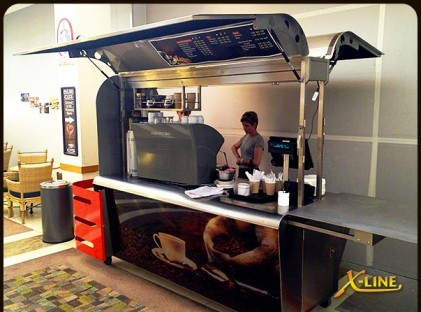 Large Coffee Cart : X-Line (on-site 1)