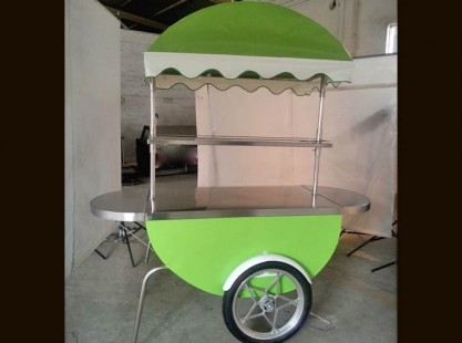 Merchandising Cart Green
