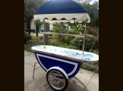 Merchandising Cart Blue