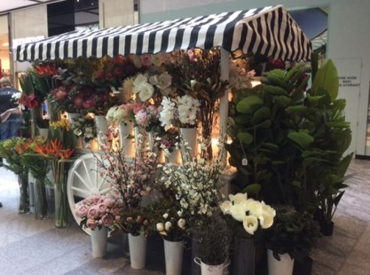 Merchandising Flower Cart