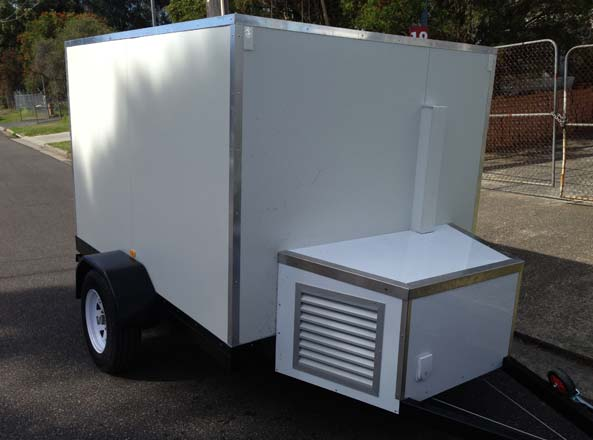 Portable Freezer Trailer : Food and coffee trailers carts australia