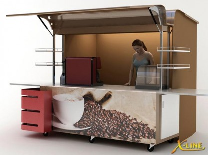 X-Line Coffee Cart Large Weather Cover