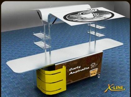 Medium Coffee Cart : X-Line (front)