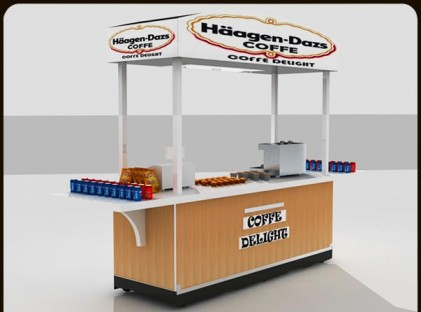 Medium Coffee Cart : Haagen Dazs (front)