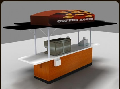 Large Coffee Cart : Coffee House (front)