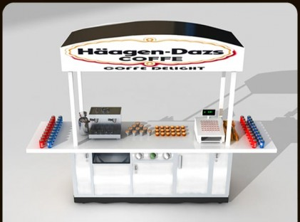 Medium Coffee Cart : Haagen Dazs (back)
