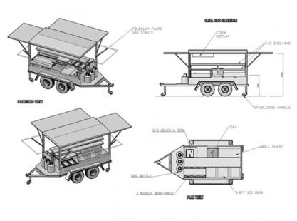BBQ Trailer 9x5 Model 3