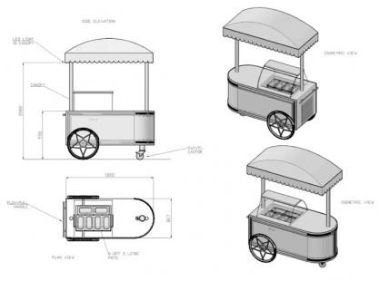 Gelato Cart Model A Specs
