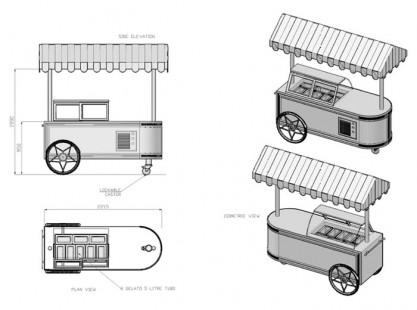 Gelato Cart Model B Specs