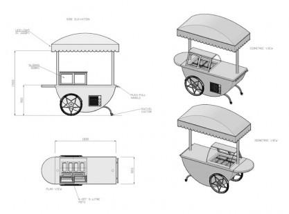 Gelato Cart Model D Specs