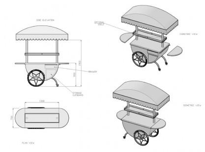 Merchandising Cart Model E Specs