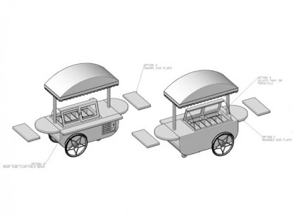 Small Gelato Cart ISO Model