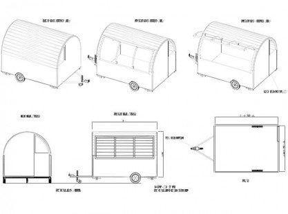 T-Line Food Cart Trailer 3x2