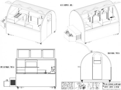 T-Line Food Cart Trailer 3x2 Trolley ISO Model
