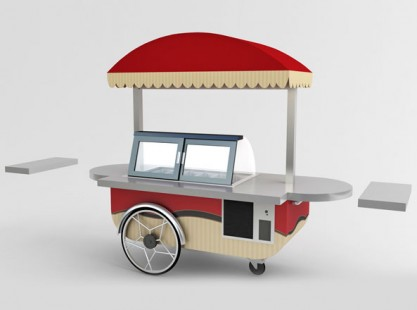 Gelato Cart: 8 Tray Small