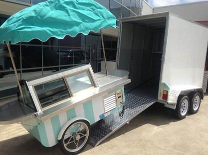 Gelato Cart With Trailer