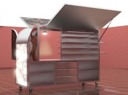 Merchandising: Half Dome Kiosk 3