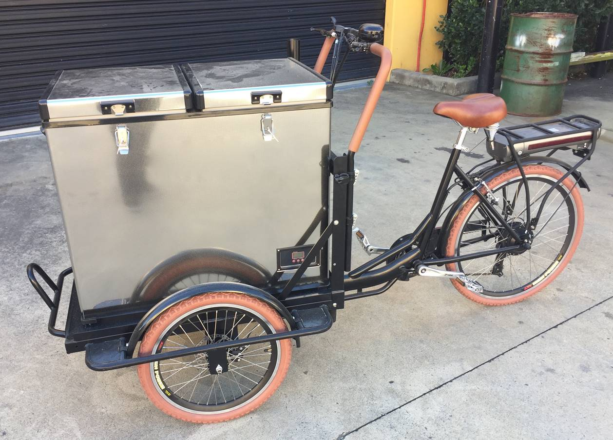 Coca Cola Fridge >> Mobile Bike Units - Carts Australia