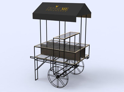 Steel Merchandising Cart