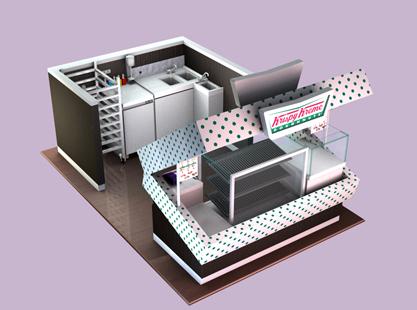 Krispy Kreme's Box  Kiosk