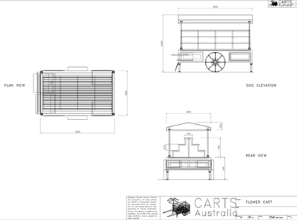 FLOWER CART PLAN Model