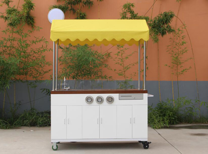 Timber Coffee Cart/Canopy