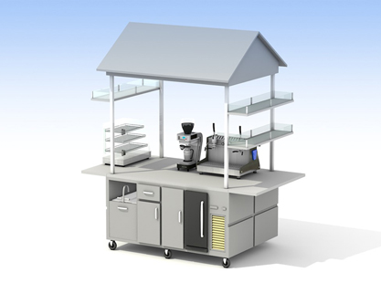 Medium Coffee Cart/Canopy