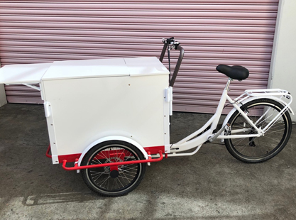Red & White Storage Bike