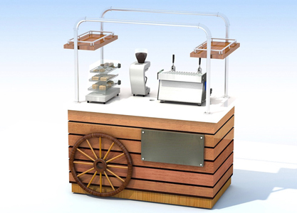 Timber Coffee Trolley