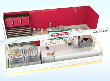 Krispy Kreme's Auckland Airport Option 2