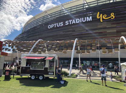 Mrs Mac's Pie Trailer Optus Stadium