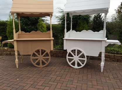 White/Painted Candy carts