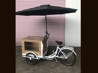 Merchandise Bike Display with Umbrella